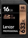 Lexar Professional 633x SDHC UHS-I - Speicherkarte - Kapazität 16 GB - Schwarz