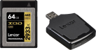 Lexar Professional 2933x XQD 2.0 + XQD 2.0 USB 3.0 Leser - Speicherkarte - Kapazität 64 GB - Schwarz