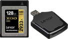 Lexar Professional 2933x XQD 2.0 + XQD 2.0 USB 3.0 Leser - Speicherkarte - Kapazität 128 GB - Schwarz