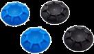 bigben Controller Cups - 4-pack - Blau / Schwarz