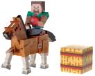 Minecraft: Overworld - Figur Steve & Chestnut Horse