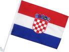 Excellent Clothes Bandiera auto - Croazia