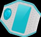 yurbuds Ergosport LED - Armband - Tragbarer LED-Clip - Weiss/Blau