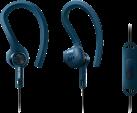 PHILIPS SHQ1405BL/00 - ActionFit Sportkopfhörer mit Mikrofon - Schweiss- und wasserfest - Blau