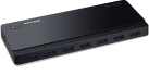 TP-LINK UH700 - 7-Port-USB-3.0-Hub - débits de près de 5Gbps -7 ports disponibles - noir