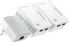 TP-LINK TL-WPA4220T KIT - AV500-300Mit/s-WLAN-Powerline-Extender Triple KIT - 12.92 W - Weiss