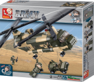 Sluban Elements Army Serie hélicoptère Transport