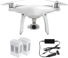 dji Phantom 4 + 2x Intelligent Flight Battery - 1x Autoladegerät Kit