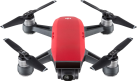 dji Spark Fly More Combo - Mini drone - FaceAware (Reconnaissance faciale) - Rouge