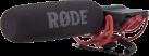 RODE VideoMic - Microfono Direzionale per Video Camera - 200 Ω - Nero/Rosso