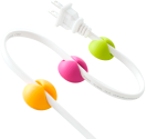 bluelounge CableDrop, orange / rose / vert