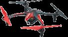 DROMIDA Ominus UAV RTF - Quadcopter - LED-Beleuchtung - Rot