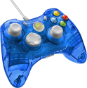 PDP Rock Candy Manette - pour Xbox 360 - bleu transparent
