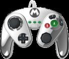 PDP Gamecube Controller - Mario Metal Design - für Wii U - Silber