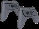PDP Nintendo Switch Pro Player Grips - Griffe für Nintendo Switch Joy-Cons - Mit Tastenerweiterung - Grau