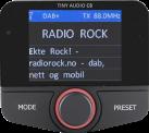 TINY AUDIO C8 - DAB+ Transmitter - Schwarz