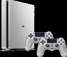 Sony Playstation - Playstation 4 Slim 500 GB + 2 Sony DualShock 4 Controller - Silber