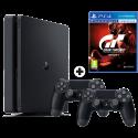 Sony PS4 Slim + Gran Turismo Sport - Console di gioco - 1 TB - Nero/Bianco