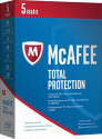 McAfee Total Protection 2017 - 5 licences, PC/MAC/Smartphone/Tablette, multilingue