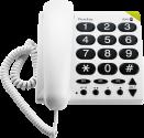 doro PhoneEasy 311c - Telefono da tavolo - Analogico - Bianc