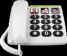 doro PhoneEasy 331ph - Téléphone - Blanc