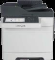 Lexmark CX510de - Multifunktions-Farblaserdrucker - Bis zu 30 ppm - Schwarz/Weiss