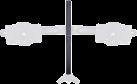 Multibrackets 7440 - Schwarz