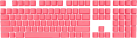 Mionix Frosting Keycaps - DE Layout - Pink