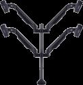 Multibrackets VESA Quad HD - Tischständer - Für 15-32 - Schwarz