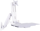 Multibrackets M Workstation Arm Single - Support mural - Blanc