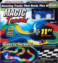 MAGIC Tracks Starter Pack - Rennbahnset - Leuchtet im dunkeln - Blau/Rot