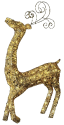 Star Trading SEQUIN DEER - 115x64cm - gold