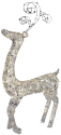 Star Trading SEQUIN DEER - 115x64cm - silber