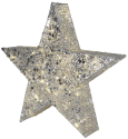 Star Trading SEQUIN STAR - 70x80cm - silber