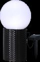 STAR TRADING Solar Energy Lichtkugel - 25 cm - Mit Rattankorb - Weiss