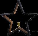 Star Trading LYSeKIL - hängender Stern für den Innenbereich - 52x52cm - schwarz