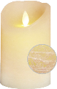 STAR TRADING Glim - Bougie LED - 8x13 cm - Beige