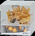 Star Trading STAR SHAPED NET - LED Lichterkette - 135cm - messing