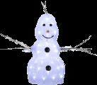 Star Trading bonhomme de neige cristal LED - 38x21cm