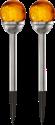 STAR TRADING ROMA - Chemin lumière solaire LED - 2 pièce - Chrome/Ambre