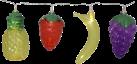 STAR TRADING FRUITY - LED Lichterkette - Timerfunktion - Ananasse, Erdbeeren, Bananen, Trauben