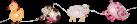 STAR TRADING ZOOLIGHT - Catena di luci LED - Funzione timer - Mucca, pecora, maiale, gallina