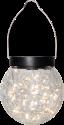 STAR TRADING GLORY Lampe de table solaire LED - avec cintre - Noir/Transparent