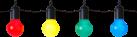 STAR TRADING 476-14 - LED Party-Lichterkette - Mit Haken - Multicolor