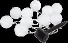STAR TRADING FESTIVAL LED Solar - 2,7 m - 10 Stück Lampions - Weiss