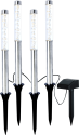 STAR TRADING BUBBLY (479-32) - Spina della lampada solare LED - 4 pezzo - Nero/Argento