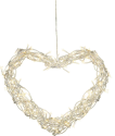Star Trading Curly Heart - LED Herz - 30x35cm - weiss