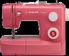 SINGER Simple 3223R - Bras libre-Point de couture courant-Machine à coudre - 23 programmes de couture - Rouge
