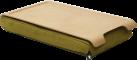 BOSIGN Mini Laptray Anti-Slip, natur / olive grün