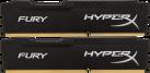 Kingston HyperX FURY - Memoria principale - 2x 4 GB (DDR3 / 1600 MHz) - Nero